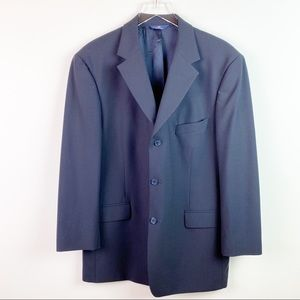 Brooks Brothers Blue Navy Wool Blazer Size 44R